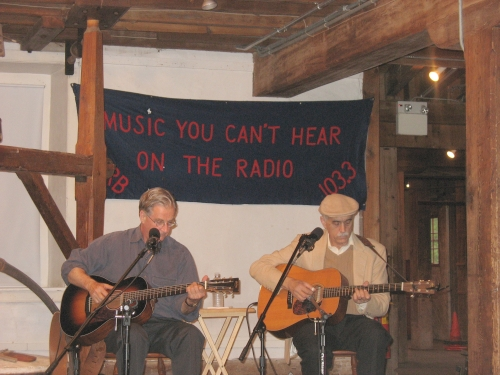 Geoff Muldaur & Jim Kweskin at the Prallsville Mills; May 22, 2010